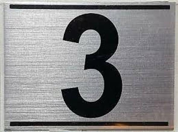 APARTMENT Number Sign THREE (3)