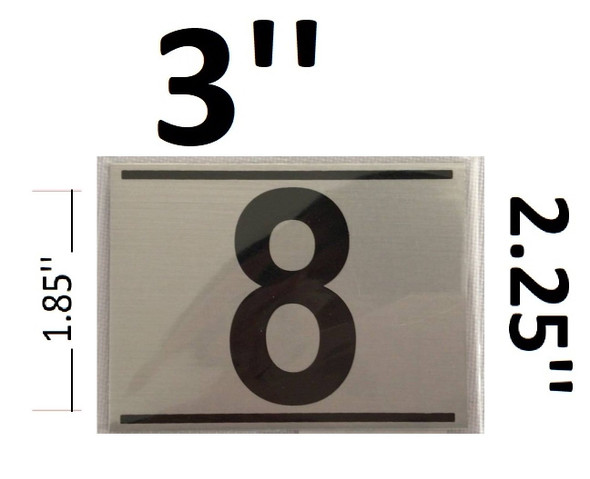 APARTMENT NUMBER EIGHT (8) SIGN