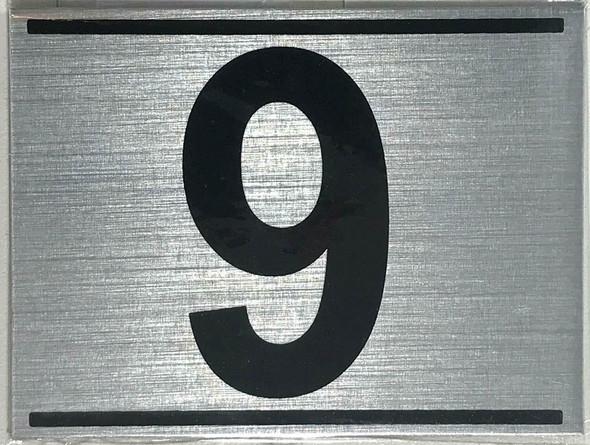 APARTMENT Number Sign NINE (9)