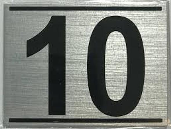 APARTMENT Number Sign TEN (10)