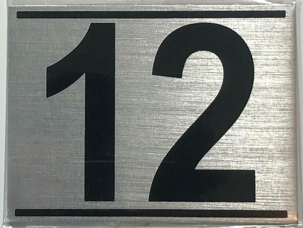 APARTMENT Number Sign TWELVE (12)
