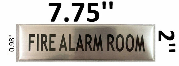 FIRE ALARM ROOM SIGNAGE - -BRUSHED ALUMINUM