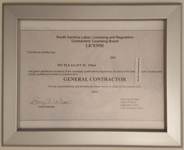 SC License frame