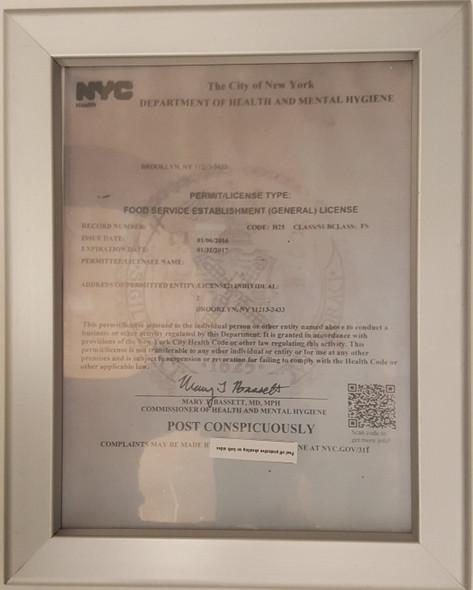 NYC Food Service Establishment Frame