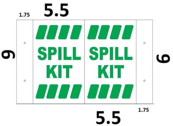 Spill KIT 3D Projection Sign/Spill KIT Hallway Sign