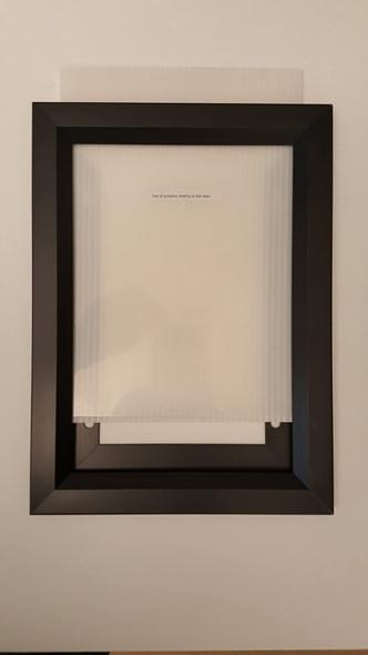 Elevator Inspection Certificate Frame  Black ( Heavy Duty - Aluminum)