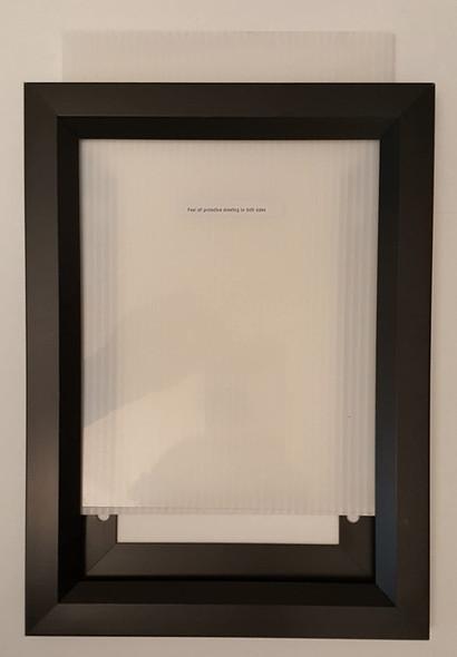 "Elevator Inspection Certificate Frame 6"" X 9"" Black ( Heavy Duty - Aluminum)"