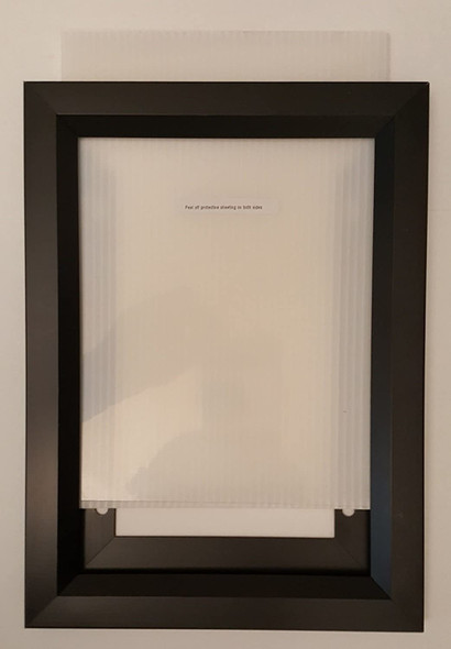 Elevator Inspection Certificate Frame  Black ( Heavy Duty - Aluminum)