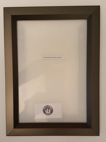 Elevator Inspection Certificate Frame  Dark Chocolate / Antique Bronze ( Heavy Duty - Aluminum)