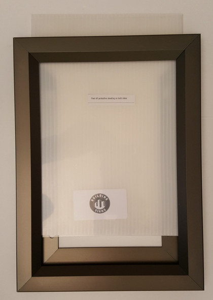 Elevator Inspection Certificate Frame  Dark Chocolate / Antique Bronze ( Heavy Duty - Aluminum)