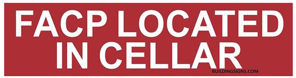 FACP Located in Cellar Sign