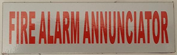 FIRE Alarm Annunciator Sign- Aluminium