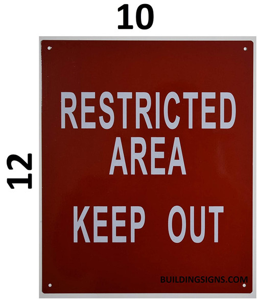 Restricted Area Keep Out Signage