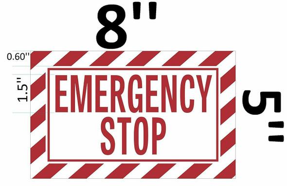 EMERGENCY STOP Signage