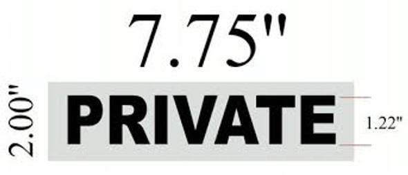 PRIVATE DOOR Signage