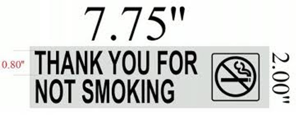 THANK YOU FOR NOT SMOKING Signage