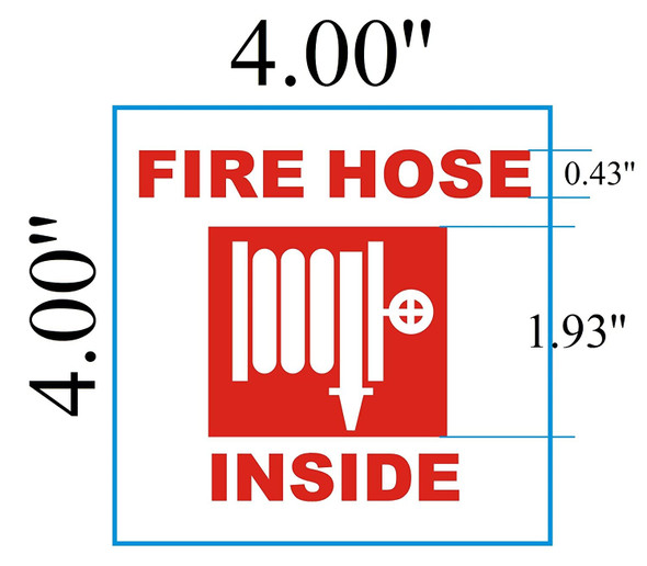 2 pcs -FIRE Hose Inside Sign