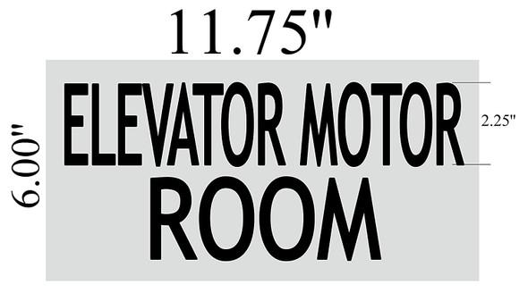ELEVATOR MOTOR ROOM SIGN - BRUSHED ALUMINUM
