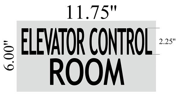 ELEVATOR CONTROL ROOM SIGN - BRUSHED ALUMINUM