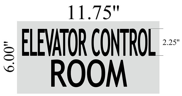 ELEVATOR CONTROL ROOM SIGNAGE (BRUSHED ALUMINUM )