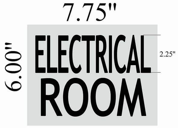 ELECTRICAL ROOM SIGNAGE (BRUSHED ALUMINUM,)