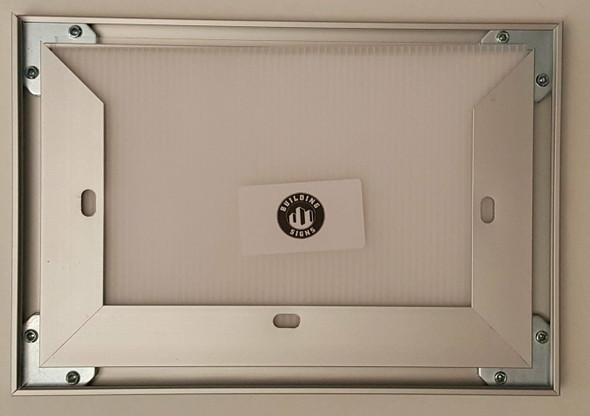 License Permit Frame 8.5x5.5 VA ( Heavy Duty - Aluminum)