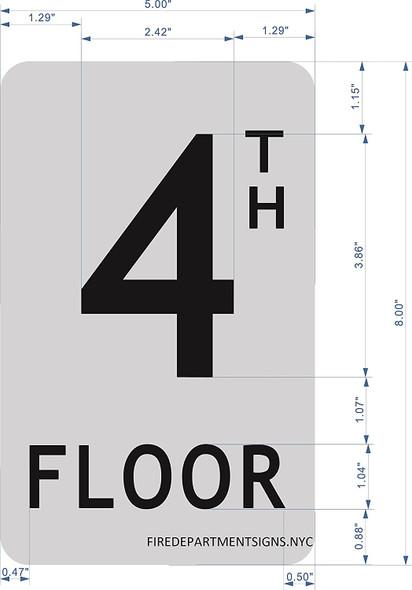 4TH FLOOR SIGN