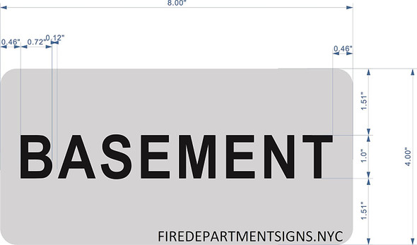Basement Floor Sign (Brush Aluminium, 5X8)-The Mont Argent line