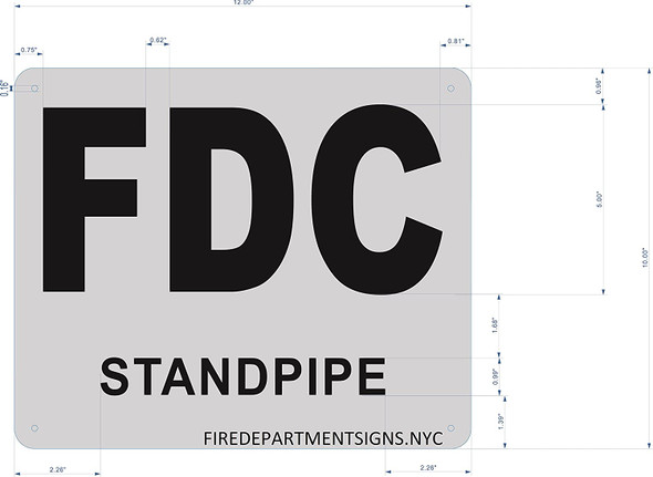 FDC STANDPIPE SIGN -