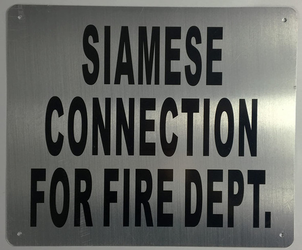 Siamese Connection for FIRE DEPT Sign