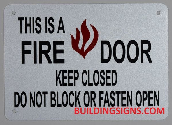 This is A FIRE Door Keep Closed Sign -