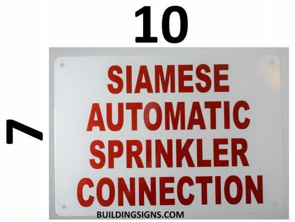 Automatic Sprinkler Shut-Off Valve Located- Ft. Opposite This Sign, Engineer Grade Reflective Aluminum Sign