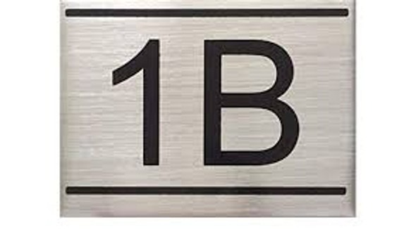 APARTMENT NUMBER SIGN -1B