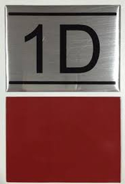 APARTMENT NUMBER SIGN -1d