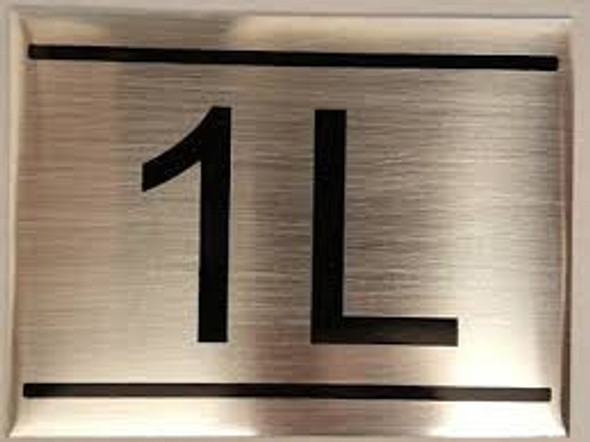 APARTMENT NUMBER SIGN -1L