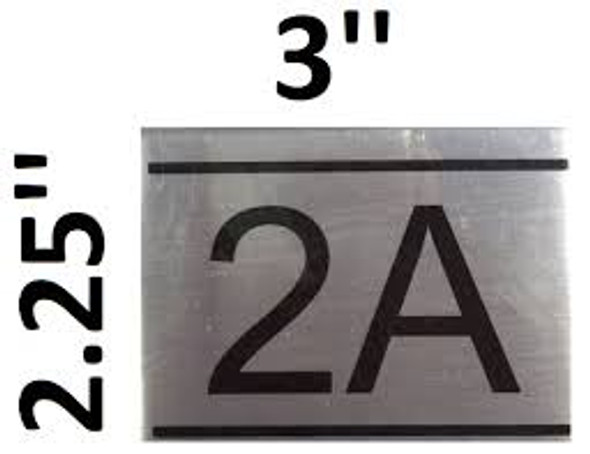 APARTMENT NUMBER SIGN -2A