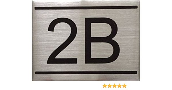 APARTMENT Number Sign  -2B