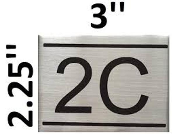 APARTMENT NUMBER  -2C
