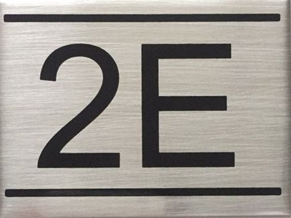 APARTMENT Number Sign  -2E