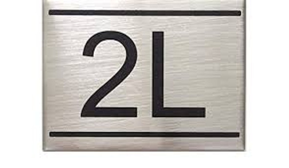 APARTMENT NUMBER SIGN -2L
