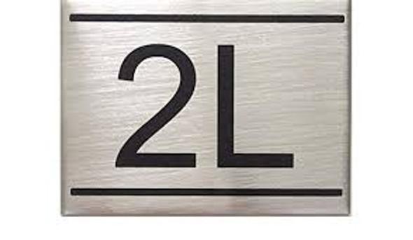 APARTMENT Number Sign  -2L