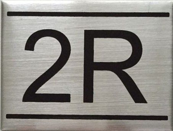 APARTMENT NUMBER SIGN -2R
