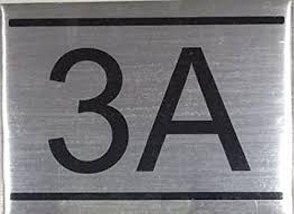 APARTMENT NUMBER SIGN -3A