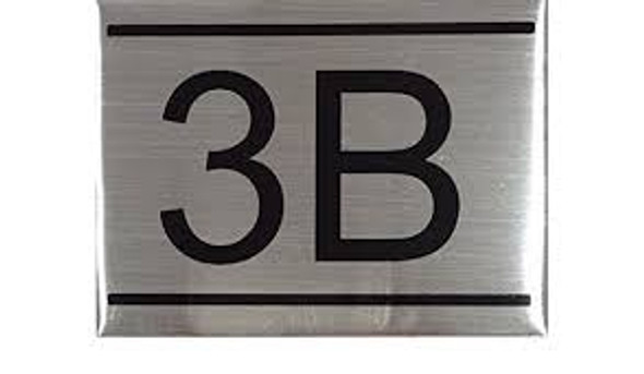 APARTMENT Number Sign  -3B
