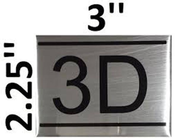 APARTMENT NUMBER  -3D