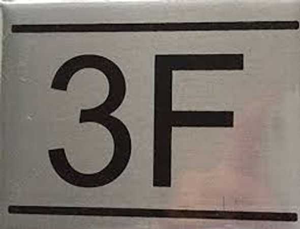 APARTMENT Number Sign  -3F
