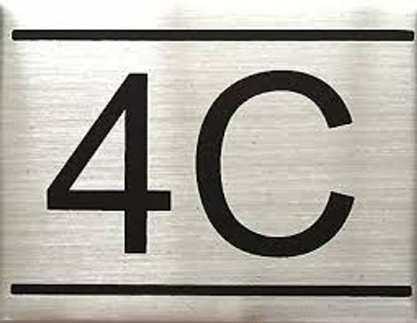 APARTMENT Number Sign  -4C