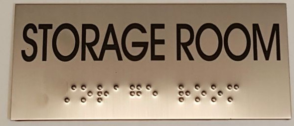 STORAGE ROOM Sign -Tactile Signs   Braille sign