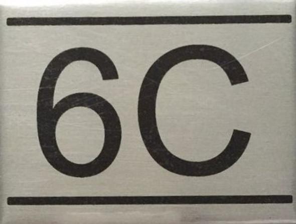 APARTMENT Number Sign  -6C