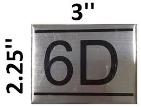 APARTMENT NUMBER  -6D